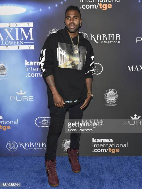 Jason Derulo arrives at the 2017 MAXIM Halloween Party at LA Center Studios on October 21 2017 in Los Angeles California