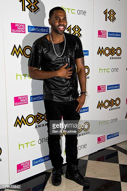 Jason Derulo arrives at the nominations launch for the MOBO Awards at Grand Connaught Rooms on September 3 2013 in London England