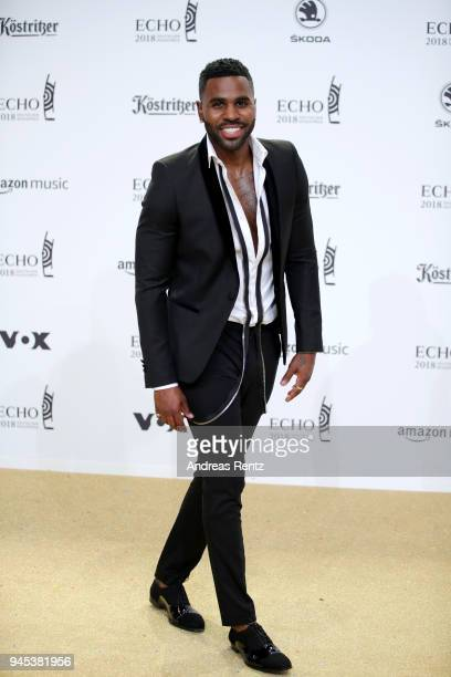 Jason Derulo arrives for the Echo Award at Messe Berlin on April 12 2018 in Berlin Germany