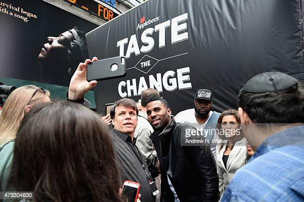 Jason Derulo attends Applebee's Hosts Taste the Change Fest in Times Square introducing New Menu on May 13 2015 in New York City