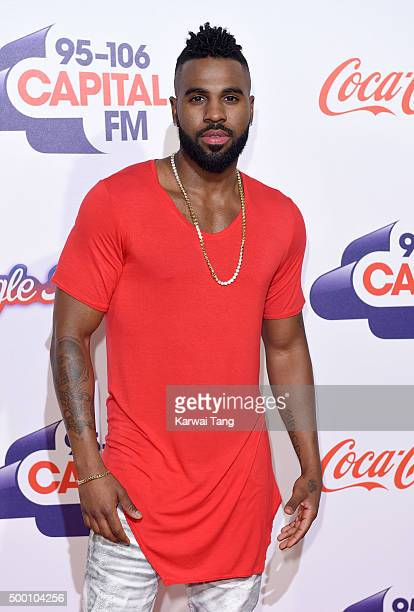 Jason Derulo attends day one of the Capital FM Jingle Bell Ball at The O2 Arena on December 5 2015 in London England
