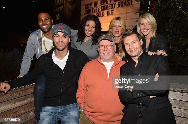 Jason Derulo, Enrique Iglesias, Jordin Sparks, Senior VP of programming at Clear Channel, John Ivey, Ellen K, Ryan Seacrest, and Julianne Hough...