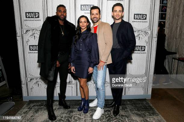 Jason Derulo Francesca Hayward Robert Fairchild and Laurie Davidson attend the Build Series to discuss 'Cats' at Build Studio on December 17 2019 in...
