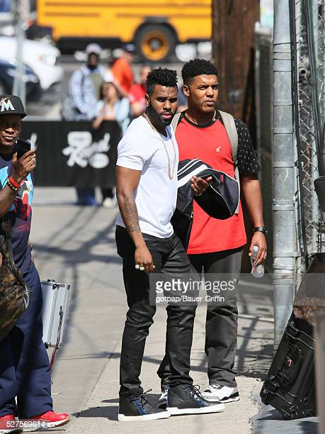 Jason Derulo is seen at 'Jimmy Kimmel Live' on May 02 2016 in Los Angeles California