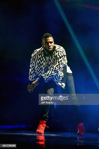 Jason Derulo on stage during the MTV EMA's 2015 at the Mediolanum Forum on October 25 2015 in Milan Italy