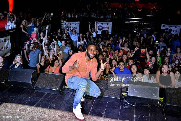 Jason DeRulo onstage during 973 Hits Session at Revolution on April 27 2016 in Fort Lauderdale Florida