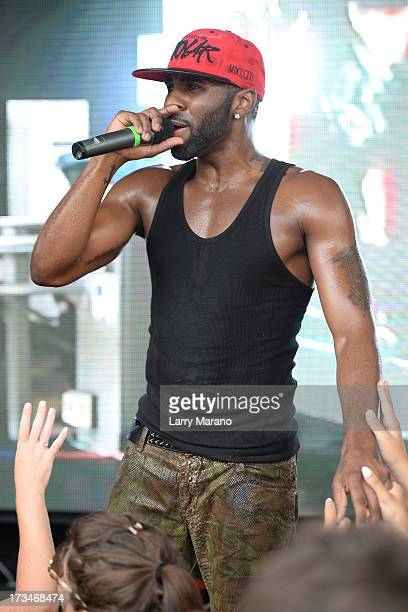 Jason Derulo performs at Mackapoolza held at the Clevelander South Beach on July 14 2013 in Miami Beach Florida