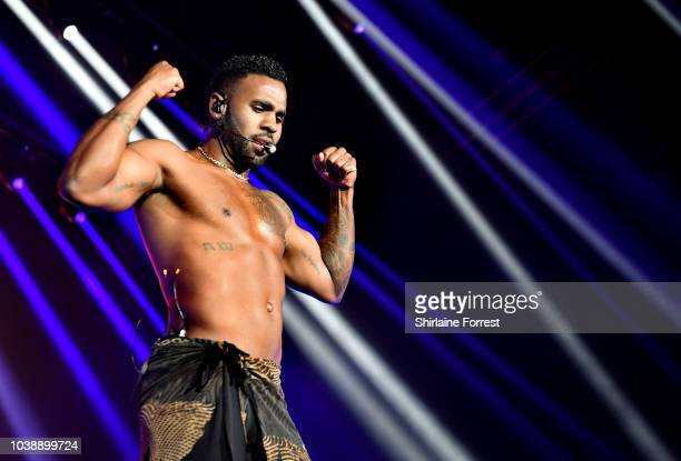 Jason Derulo performs at Manchester Arena on September 23 2018 in Manchester England