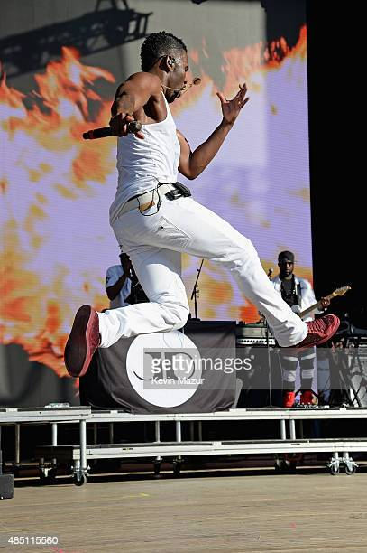 Jason Derulo performs during Billboard Hot 100 Festival Day 1 at Nikon at Jones Beach Theater on August 22 2015 in Wantagh New York