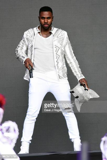 Jason Derulo performs during day 2 of BBC Radio 1's Biggest Weekend 2018 held at Singleton Park on May 27 2018 in Swansea Wales