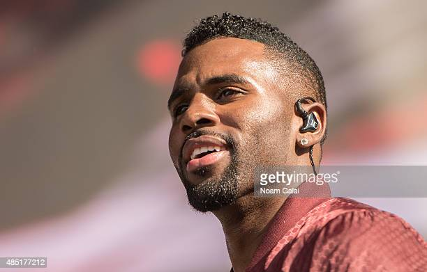 Jason Derulo performs during the 2015 Billboard Hot 100 Music Festival at Nikon at Jones Beach Theater on August 22 2015 in Wantagh New York