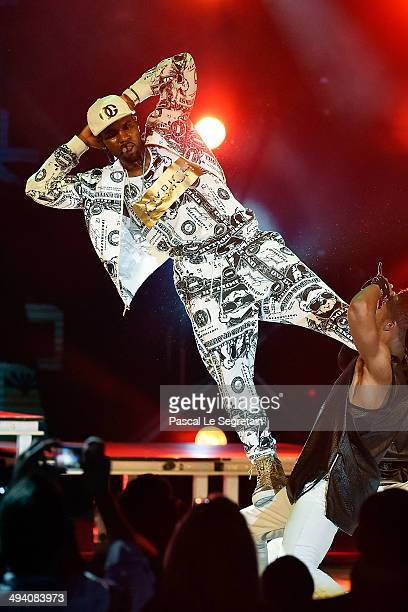 Jason Derulo performs during the ceremony of the World Music Awards 2014 at Sporting MonteCarlo on May 27 2014 in MonteCarlo Monaco
