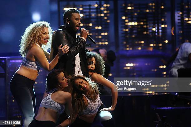 Jason Derulo performs during the Much Music Video Awards in downtown Toronto