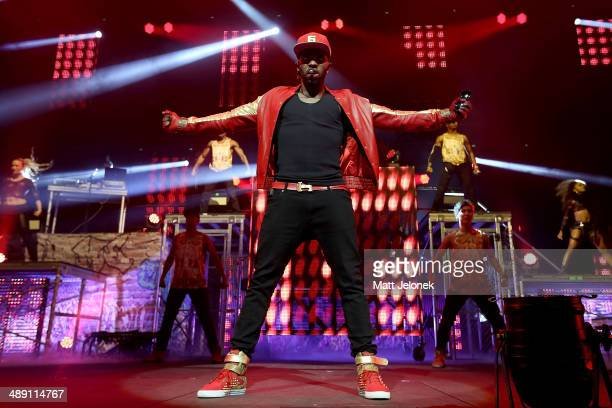 Jason Derulo performs live for fans at Perth Arena on May 10 2014 in Perth Australia