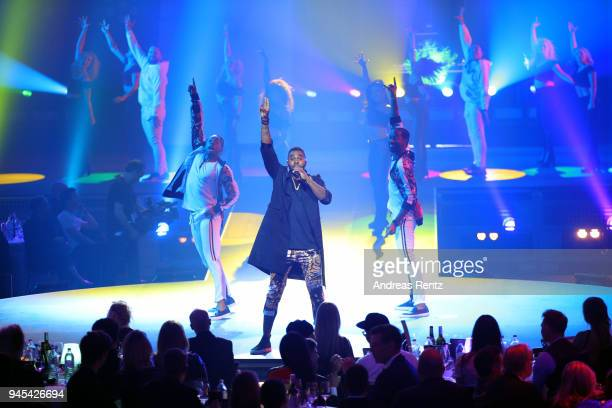 Jason Derulo performs on stage during the Echo Award show at Messe Berlin on April 12 2018 in Berlin Germany