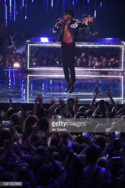 Jason Derulo performs on stage during the MTV EMAs 2018 at Bilbao Exhibition Centre on November 4 2018 in Bilbao Spain