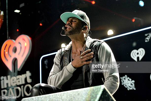 Jason Derulo performs onstage during 933 FLZ's Jingle Ball 2013 at the Tampa Bay Times Forum on December 18 2013 in Tampa Florida