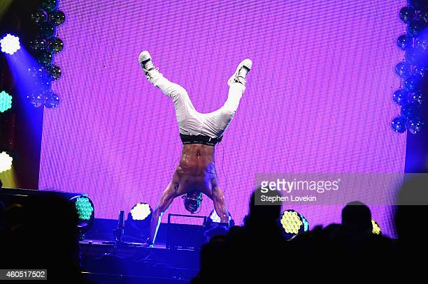 Jason Derulo performs onstage during HOT 99.5's Jingle Ball 2014, Presented by Mattress Warehouse at the Verizon Center on December 15, 2014 in...