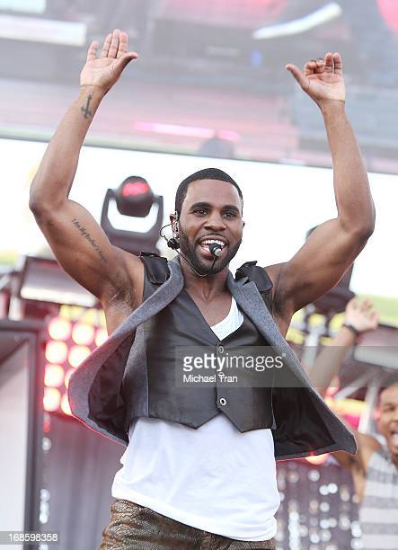 Jason Derulo performs onstage during the 2013 KIIS FM's Wango Tango held at The Home Depot Center on May 11 2013 in Carson California
