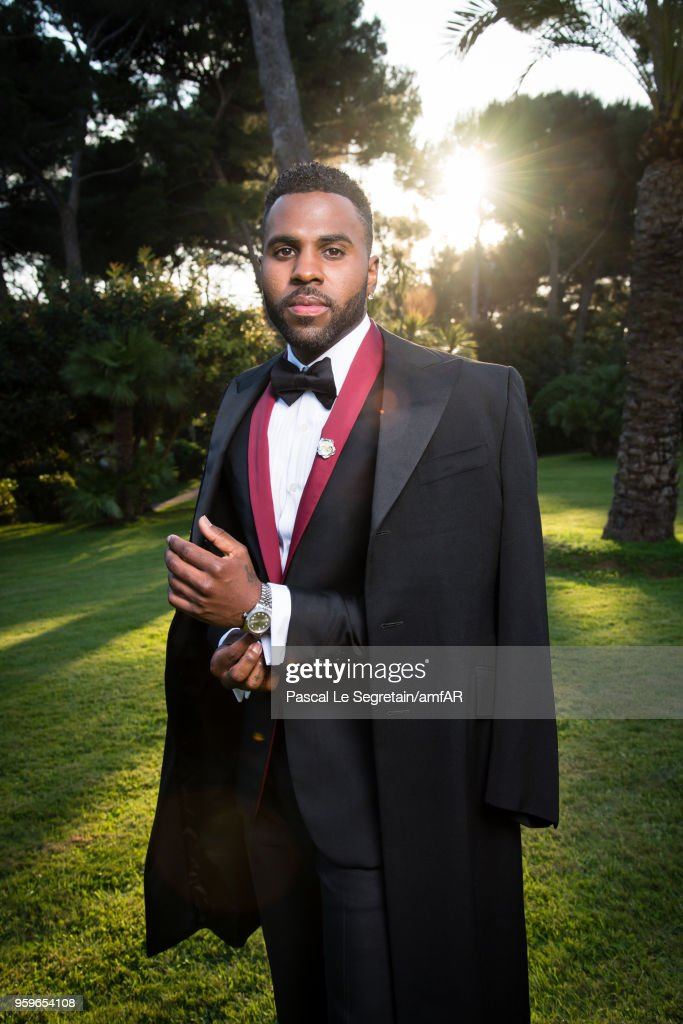 Jason Derulo poses for portraits at the amfAR Gala Cannes 2018 cocktail at Hotel du Cap-Eden-Roc on May 17, 2018 in Cap d'Antibes, France.