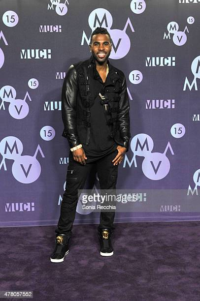 Jason Derulo poses in the press room at the 2015 MuchMusic Video Awards at MuchMusic HQ on June 21, 2015 in Toronto, Canada.