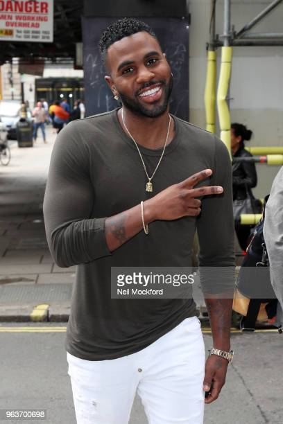 Jason Derulo seen arriving at KISS FM UK Radio Studios on May 30 2018 in London England
