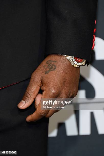 Jason Derulo tattoo detail attends the 2017 CMT Music awards at the Music City Center on June 7 2017 in Nashville Tennessee