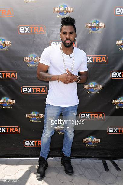 Jason Derulo visits Extra at Universal Studios Hollywood on July 28 2016 in Universal City California