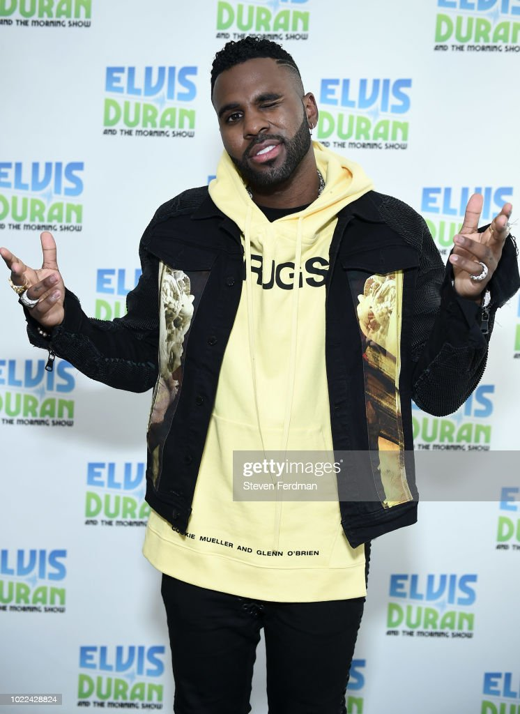 Jason Derulo visits 'The Elvis Duran Z100 Morning Show' at Z100 Studio on August 24, 2018 in New York City.