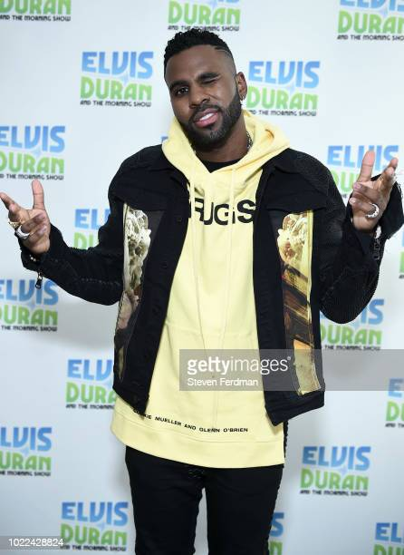 Jason Derulo visits 'The Elvis Duran Z100 Morning Show' at Z100 Studio on August 24 2018 in New York City