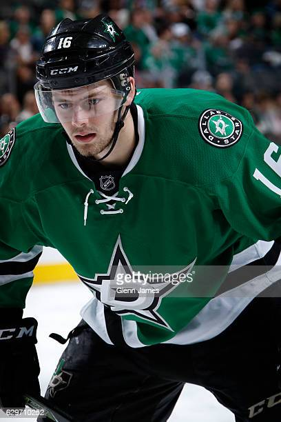 Jason Dickinson of the Dallas Stars skates against the Nashville Predators at the American Airlines Center on December 8 2016 in Dallas Texas