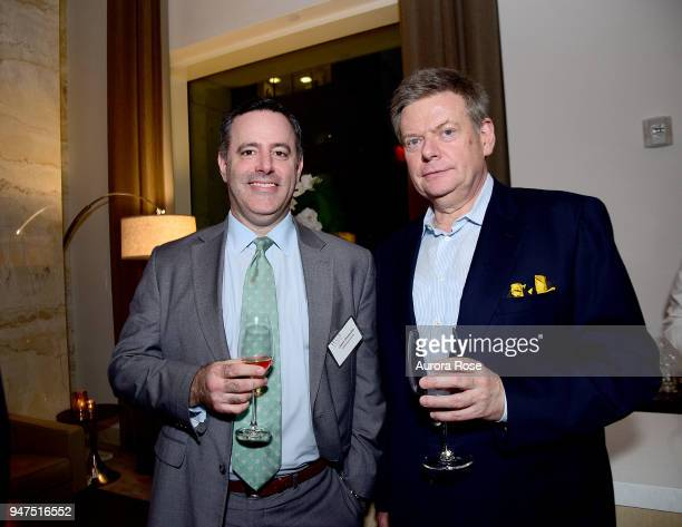 Jason Dinwoodie and Gerald Brix attend Launch Of New Entity Withers Global Advisors at 432 Park Avenue on April 3 2018 in New York City Jason...