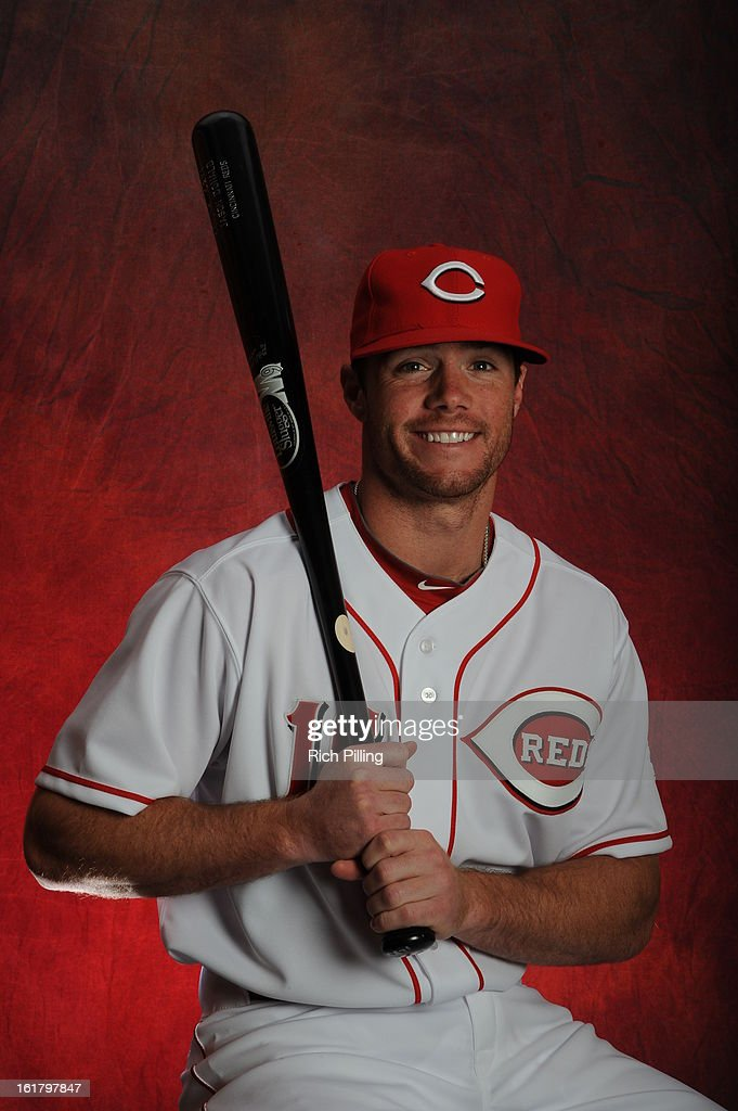 Jason Donald #16 of the Cincinnati Reds poses during MLB photo day on February 16, 2013 at the Goodyear Ballpark in Goodyear, Arizona.