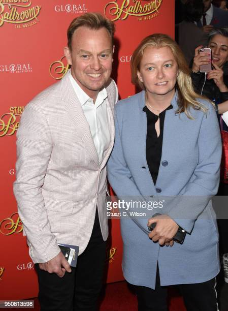 Jason Donovan and Angela Malloch attend the Strictly Ballroom press night at Piccadilly Theatre on April 24 2018 in London England