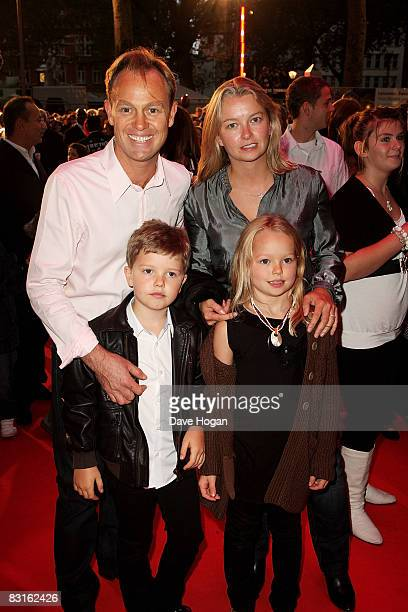Jason Donovan and Angela Malloch attend the UK premiere of 'High School Musical 3' at the Empire cinema Leicester Square on October 7 2008 in London...