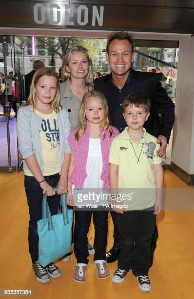 Jason Donovan and Angela Malloch with his two children Zach and Jemma