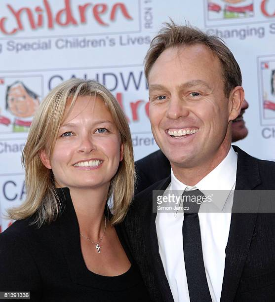 Jason Donovan and guest arrive for the Caudwell Children 'The Legends Ball' at Battersea Evolution on May 8 2008 in London England