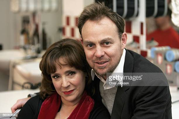 Jason Donovan and Harriet Thorpe pose in a barbers chair as they launch the national tour of Stephen Sondheim's musical Sweeney Todd - which kicks...