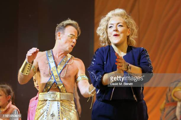 """Jason Donovan and Sheridan Smith attend the press night performance of """"Joseph And The Amazing Technicolor Dreamcoat"""" at The London Palladium on July..."""