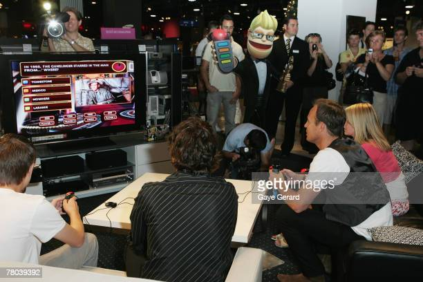 Jason Donovan launches PlayStation 2's latest game Buzz The Hollywood Quiz for which he is the voice of Buzz at Myer Pitt Street on November 21 2007...