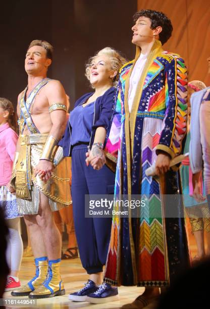 """Jason Donovan, Sheridan Smith and Jac Yarrow attend the press night performance of """"Joseph And The Amazing Technicolor Dreamcoat"""" at The London..."""