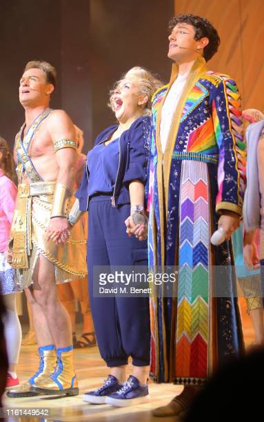 Jason Donovan Sheridan Smith and Jac Yarrow attend the press night performance of Joseph And The Amazing Technicolor Dreamcoat at The London...