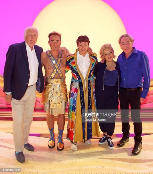 Jason Donovan Tim Rice Jac Yarrow Sheridan Smith and Andrew Lloyd Webber attend the press night performance of Joseph And The Amazing Technicolor...