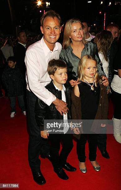 Jason Donovan, wife Angela Malloch and family arrive at the High School Musical 3: Senior Year UK Premiere held at the Empire Cinema Leicester Square...