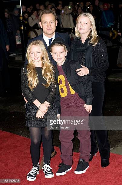 Jason Donovan, wife Angela Malloch and family arrive for a Gary Barlow Concert in support of The Prince's Trust, at the Royal Albert Hall on December...