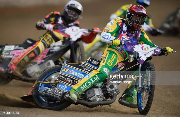 Jason Doyle of Australia competes during the Invitation Sports Speedway competition of The World Games at the Olympic Stadium on July 29 2017 in...