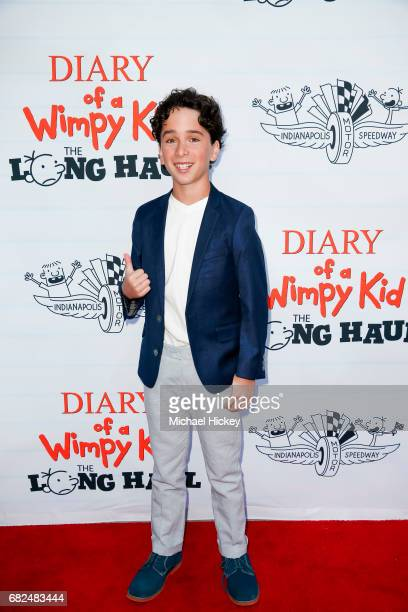 Jason Drucker appears at the premiere of Diary of a Wimpy Kid The Long Haul at the Indianapolis Motor Speedway on May 12 2017 in Indianapolis Indiana
