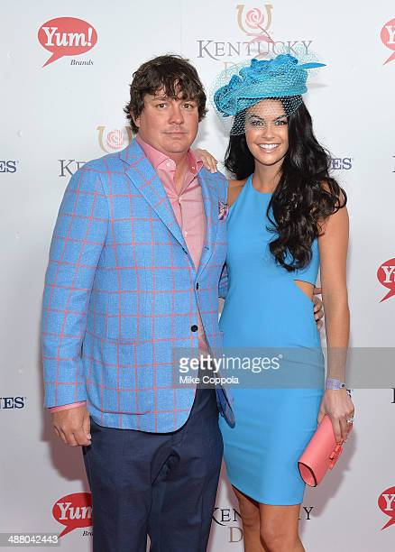 Jason Dufner and Amanda Boyd attend 140th Kentucky Derby at Churchill Downs on May 3 2014 in Louisville Kentucky