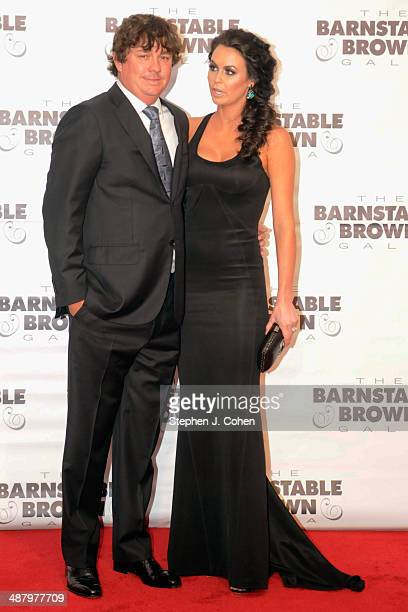 Jason Dufner and Amanda Dufner attends the Barnstable Brown Kentucky Derby Eve Gala at Barnstable Brown House on May 2 2014 in Louisville Kentucky