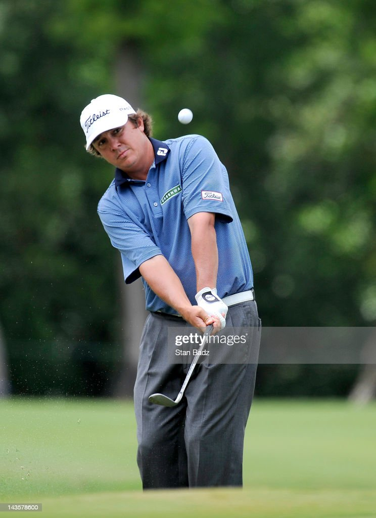 Jason Dufner chips onto the sixth hole during the final round of the Zurich Classic of New Orleans at TPC Louisiana on April 29, 2012 in New Orleans, Louisiana.